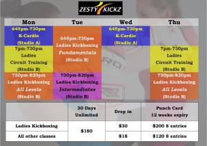 Kickboxing Singapore Zesty Kickz