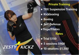 Zesty Kickz Personal Training Kickboxing